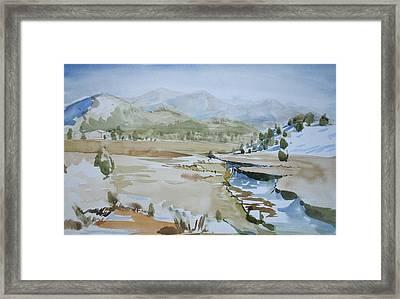 Kennedy Meadows Half In Winter Framed Print by Amy Bernays