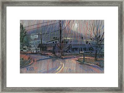 Kennesaw's Shadow Framed Print by Donald Maier