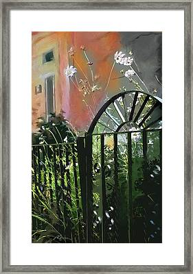 Kensington Market Gate Framed Print by Bob Salo