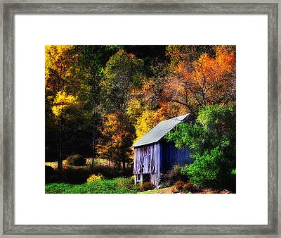 Kent Hollow II - New England Rustic Barn Framed Print by Thomas Schoeller