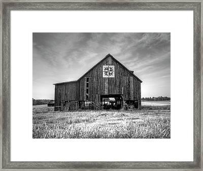 Kentucky Barn Framed Print by Judith Pannozo