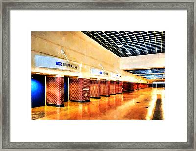 Kentucky Blue Doors At Rupp Arena Framed Print by Tri State Art