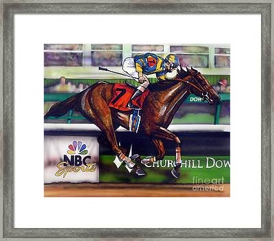 Kentucky Derby Winner Street Sense Framed Print by Dave Olsen