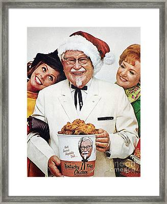 Kentucky Fried Chicken Ad Framed Print by Granger