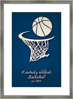 Kentucky Wildcats Basketball Framed Print by Joe Hamilton