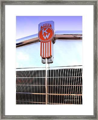 Kenworth Insignia And Grill Framed Print by Karyn Robinson