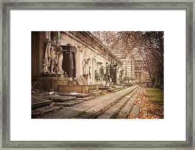 Kerepesi Cemetery Budapest Framed Print by Joan Carroll