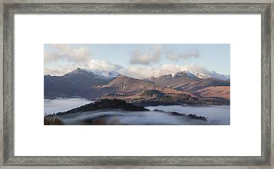 Keswick Temperature Inversion Framed Print by Graham Moore