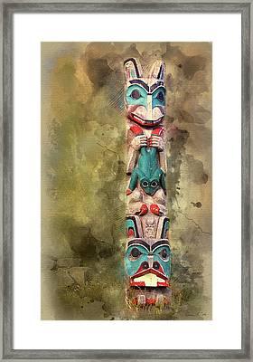Ketchikan Alaska Totem Pole Framed Print by Bellesouth Studio
