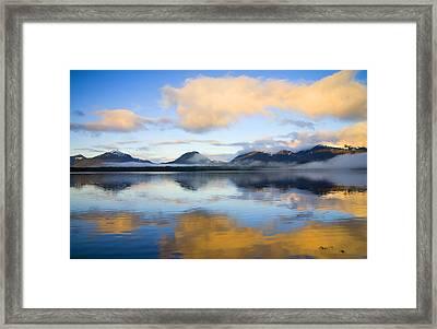 Ketchikan Sunrise Framed Print by Mike  Dawson