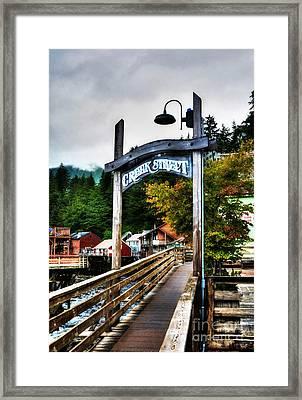 Ketchikan's Creek Street Framed Print by Mel Steinhauer
