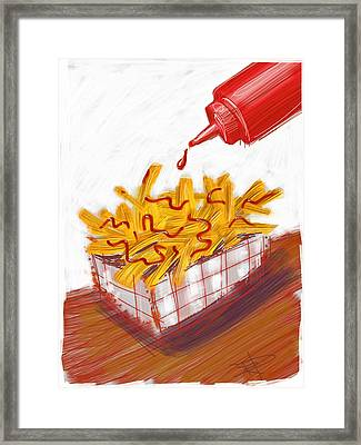Ketchup And Fries Framed Print by Russell Pierce