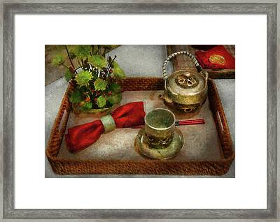 Kettle - Formal Tea Ceremony Framed Print by Mike Savad