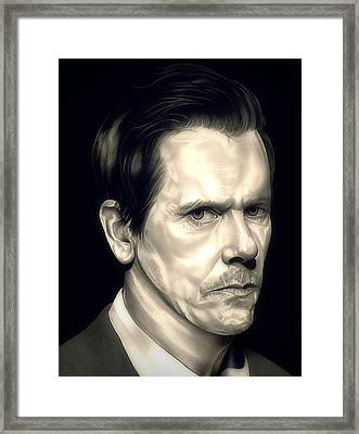 Kevin Bacon - The Following Framed Print by Fred Larucci