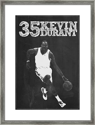 Kevin Durant Framed Print by Semih Yurdabak