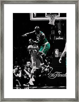Kevin Garnett Not In Here Framed Print by Brian Reaves