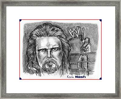 Kevin Nash Outsider Framed Print by Chris  DelVecchio