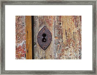Key Hole Framed Print by Carlos Caetano