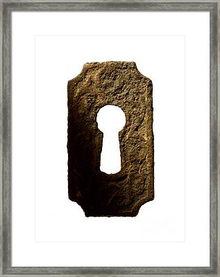 Key Hole Framed Print by Tony Cordoza