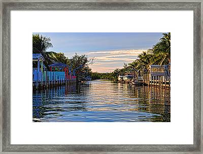Key Largo Canal Framed Print by Chris Thaxter