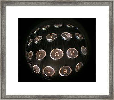 Key To Communication Framed Print by Jeffery Ball