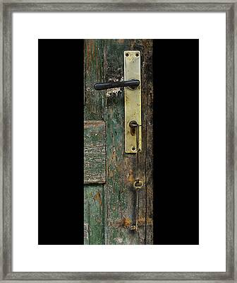 Key To The Barn Framed Print by Don Wolf