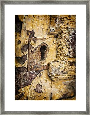 Key To The Past Framed Print by Caitlyn  Grasso