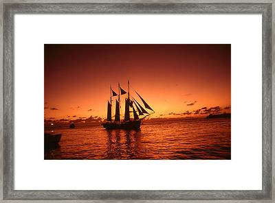Key West Florida Sunset - Color Photo Art Framed Print by Art America Online Gallery