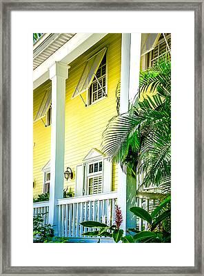Key West Homes 15 Framed Print by Julie Palencia