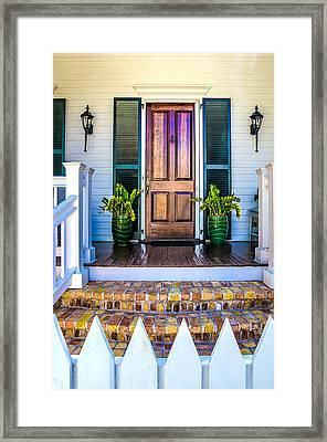 Key West Homes 16 Framed Print by Julie Palencia
