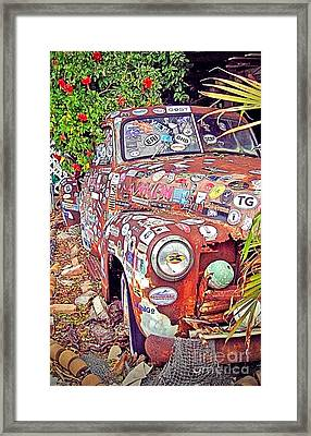 Key West Junk Truck I Framed Print by Chris Andruskiewicz