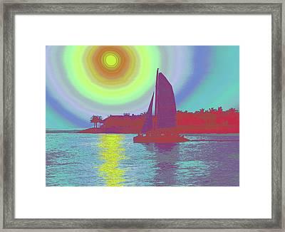 Key West Sun Framed Print by Steven Sparks