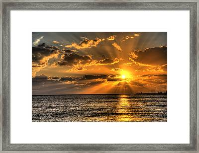 Key West Sunset Framed Print by Shawn Everhart