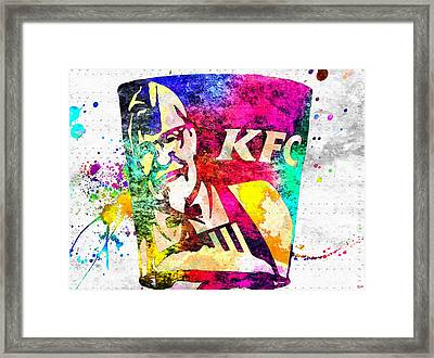 Kfc Grunge Framed Print by Daniel Janda