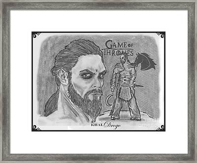 Khal Drogo -dothraki Warlord Framed Print by Chris  DelVecchio
