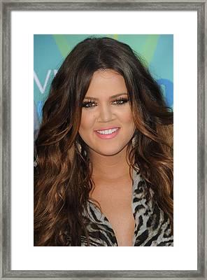 Khloe Kardashian At Arrivals For 2011 Framed Print by Everett