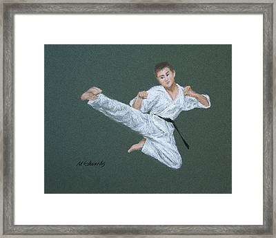 Kick Fighter Framed Print by Marna Edwards Flavell