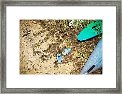 Kick Off Your Shoes Framed Print by Colleen Kammerer