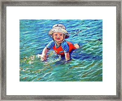 Kid-a-pillar Framed Print by Michael Durst