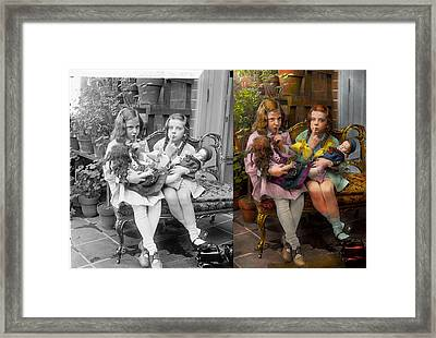 Kid - Our Little Secret 1915 - Side By Side Framed Print by Mike Savad