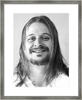 Kid Rock Mug Shot Black And White Framed Print by Tony Rubino