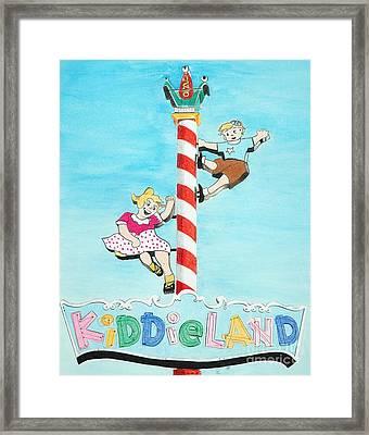 Kiddie Land Framed Print by Glenda Zuckerman