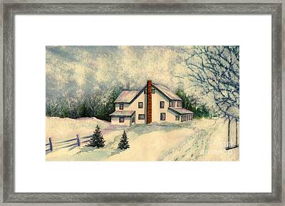 Kids Are Home Framed Print by Janine Riley