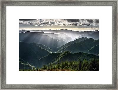 Kilchis River Canyon Framed Print by Leland D Howard