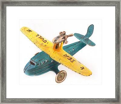 Kilgore Sea Gull Airplane Framed Print by Glenda Zuckerman