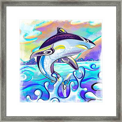 Killer Shark Framed Print by Bedros Awak
