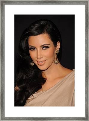 Kim Kardashian In Attendance Framed Print by Everett