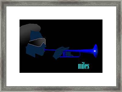 Kinda Blue Framed Print by Victor Bailey