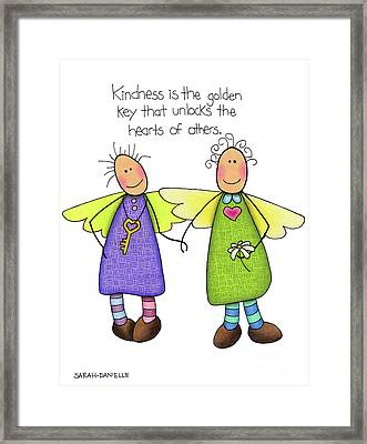Kindness Framed Print by Sarah Batalka