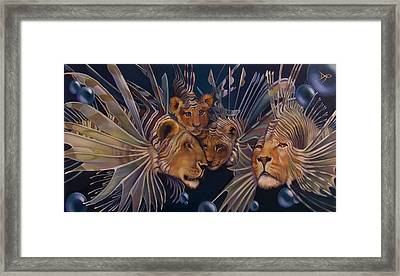 Kindred Lionfish Framed Print by Patrick Anthony Pierson